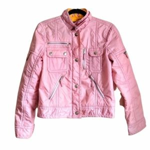 Marc Jacobs Pink Bomber Puffer Jacket